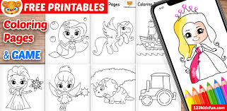 Alphabetically listed are the best free, printable coloring pages for kids and adults! Free Printable Coloring Pages For Kids And Toddlers 123 Kids Fun Apps
