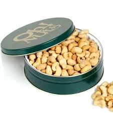 holiday roasted cashews gift tin 24 95