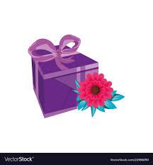 Beautiful Gift Box Design Beautiful Flowers With Gift Box Present