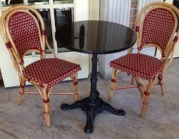 french cafe wood chairs. rattan wood bistro chair frame with colorful combination of bordeaux/beige glossy weave french cafe chairs