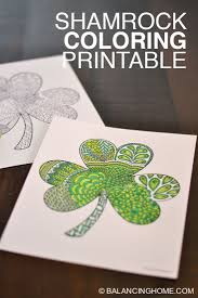 This gallery is we created for you dear visitor, particularly when you are wishing awesome ideas which is about free printable shamrocks to color. Shamrock Coloring Printable Balancing Home