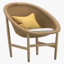 modern outdoor chair lounge 3d model