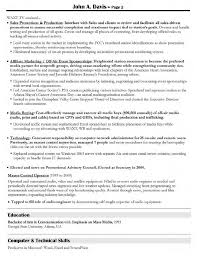 Creative Servicesctor Resume Resumes Manager Sample Project