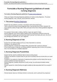 Nanda Nursing Diagnosis Formulate A Nursing Diagnosis Guidelines Of Nanda Nursing