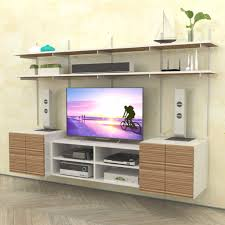 Wall Media Cabinet Wall Mounted Media Center With Open Box Cabinet Modern Shelving