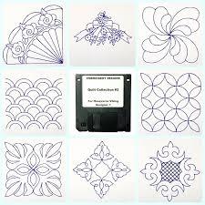 Husqvarna Designer 1 Embroidery Disks Quilt Collection 2 Embroidery Designs Disk For Husqvarna Viking Designer 1