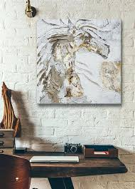 large horse wall art distressed horse oil painting original white horse wall art unique men gift animal large metal seahorse wall art on large metal seahorse wall art with large horse wall art distressed horse oil painting original white