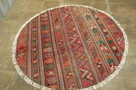 round shaped persian kilim handwoven rug moghan 150 cm first half