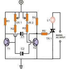 how to make any light a strobe light using just two transistors Truck Strobe Light Diagram mains bulb, cfl strobe light circuit using transistors Light Circuit Diagram