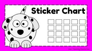 Free Sticker Chart Dalmatian Dog Theme