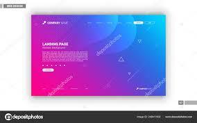 Pink Website Design Web Design Mockup Blue Pink Abstract Background Stock