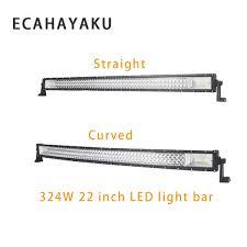<b>ECAHAYAKU 3 Row</b> 22 Inch <b>324W</b> Straight Curved LED Light Bar ...