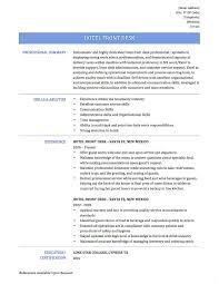Sample Resume For Hotel Front Desk Supervisor Best Hotel Front Desk