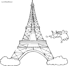 Small Picture Printable Eiffel Tower Coloring Pages For Kids 17867