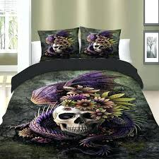 dragon bed skull bedding set owl duvet cover set dragon bed cover set cat bed linen twin full queen super king double size animal totem in bedding sets from