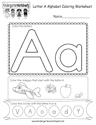 Our large collection of ela worksheets are a great study tool for all ages. Letter A Coloring Worksheet Free Kindergarten English Worksheet For Kids