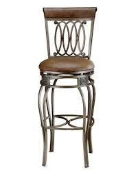 32 inch bar stools. Hillsdale Montello 32-Inch Swivel Bar Stool, Old Steel Finish With Faux Brown Leather 32 Inch Stools