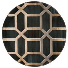 rare home depot round area rugs lavish opus art deco teal 5 ft x rug 62 30 dg