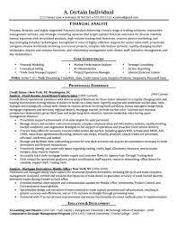 Gallery Of Financial Analyst Resume Best Template Collection