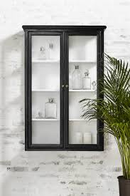 bathroom black corner wall cabinet cabinets mirrored good looking distressed wood and glass love retro high