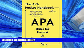 Pdf Download The Apa Pocket Handbook Rules For Format Documentation Conforms To 6th Edition