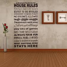 family rules wall es stickers house decoration wall lettering es large pvc vinyl wall decals stickers
