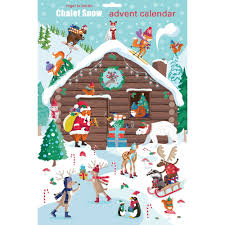 advent calander roger la borde pop slot chalet snow advent calendar