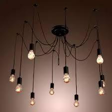 pendant lighting industrial style. 10 Heads Edison Industrial Style Vintage Loft Chandelier Pendant Lights DIY Ceiling Lamps Lighting D