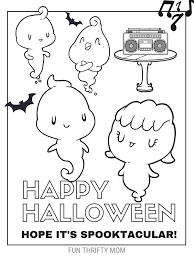 Cute Halloween Coloring Pages For Kids Cute Free Halloween Coloring Pages Fun Thrifty Mom