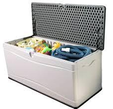 outdoor storage box waterproof extra large deck box plastic outdoor storage box container weatherproof
