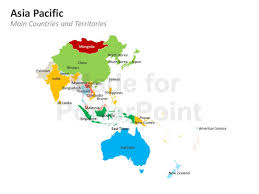 powerpoint map templates asia pacific map editable powerpoint template