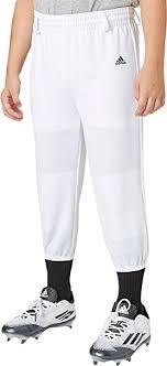 Adidas Boys Triple Stripe Pull Up Baseball Pants