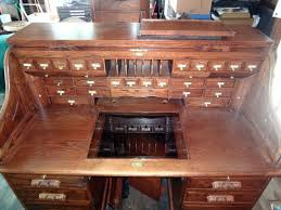 61 in executive office solid oak roll top winners only computer desk