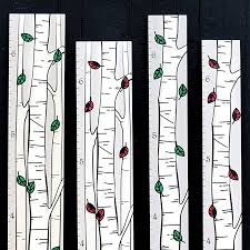 Growth Chart Art Hanging Wooden Height Growth Chart To