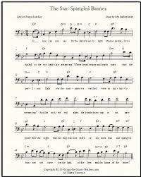 Star Spangled Banner Free Sheet Music Lyrics For All