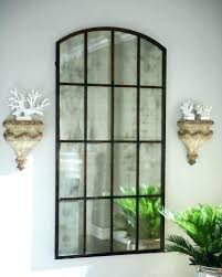 large arched wall mirror mirror window panes mirror window pane framed wall mirrors arched that look