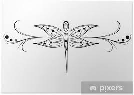 Plakát Vážka Tetování