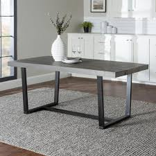grey rustic farmhouse industrial distressed solid wood kitchen dining table