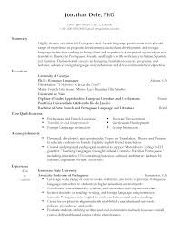 Resume Language Professional Language Professor Templates to Showcase Your Talent 1