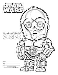 Small Picture Star Wars Coloring Pages For Kids Printable Star Wars Party