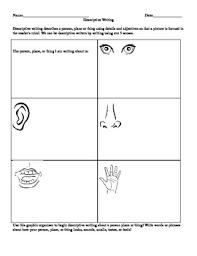 descriptive essay outline graphic organizer students to write descriptive essay