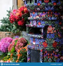 Designer Post Box Close Up Of Post Box Covered In Liberty Print Located In