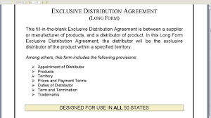Exclusivity Agreement Template Exclusive Distribution Agreement Long Form YouTube 6
