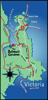 butchart gardens map. Plain Butchart Directions From Vancouver To Butchart Gardens Our Page Victoria BC On Map P