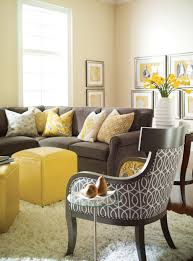 Living Room With Grey Sofa Yellow And Gray Rooms A Well Gray Rooms And Grey