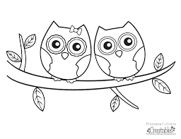 Small Picture Owls Couple Free Printable Coloring Page Printable Cuttable