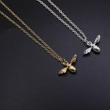 2019 quality cute bee necklace choker silver gold color honey bee pendant necklace for women popular gifts collares mujer from ogstuff 34 32 dhgate com