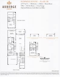Auberge at Del Sur Summer House Floor Plans   North County New HomesSummer House New homes in Del Sur  Auberge at Del Sur   New Homes