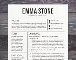 Modern Marketing Resume Professional Resume Template With Photo Modern Cv Word Etsy