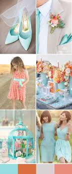 light blue and coral wedding trends for 2016 spring weddings ...